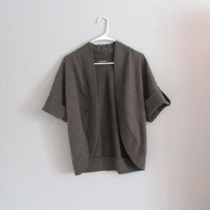 Gray Maternity Cardigan Shrug Sweater Med